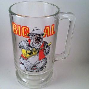 Big Al Walt Disney Productions Glass Mug 1970s